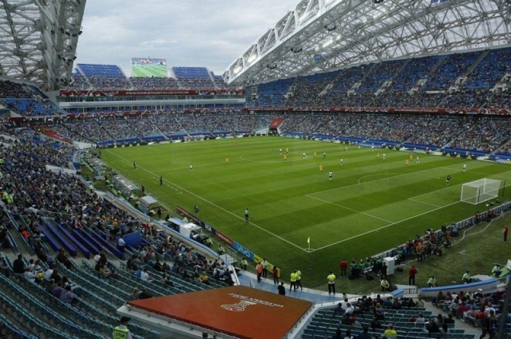 Стадион «Фишт» реконструировали после Игр-2014 специально для Кубка Конфедераций и ЧМ-2018.