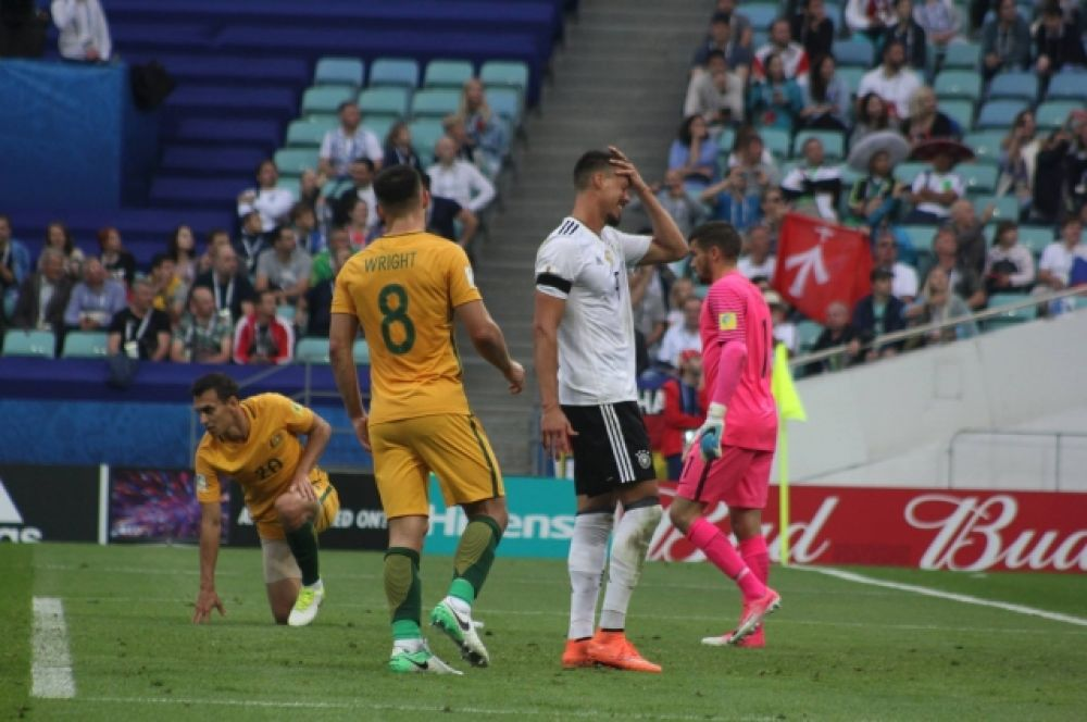 Сборная Австралии отыгрывала гол за голом, не хватило чуть-чуть везения.
