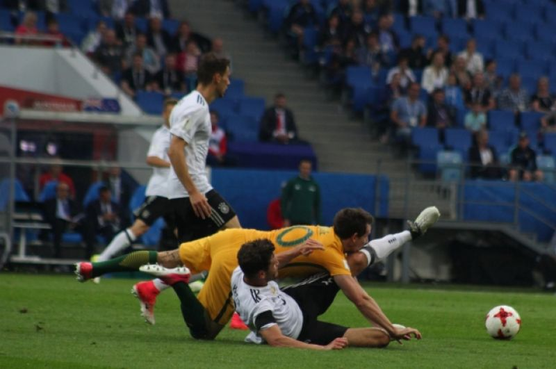 Матч Германии и Австралии собрал наименьшее число болельщиков на трибунах по сравнению с другими играми группового этапа Кубка Конфедераций.