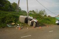 Водитель был пьян и не имел права на управление транспортными средствами.