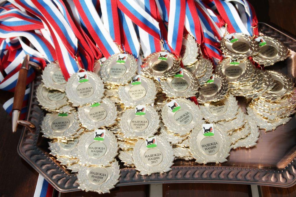Медали для учителей.