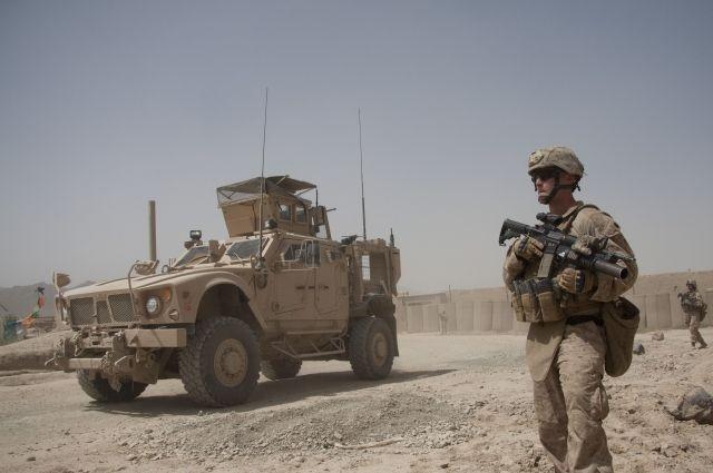 ВАфганистане отрук боевиков погибли восемь охранников военной базы США