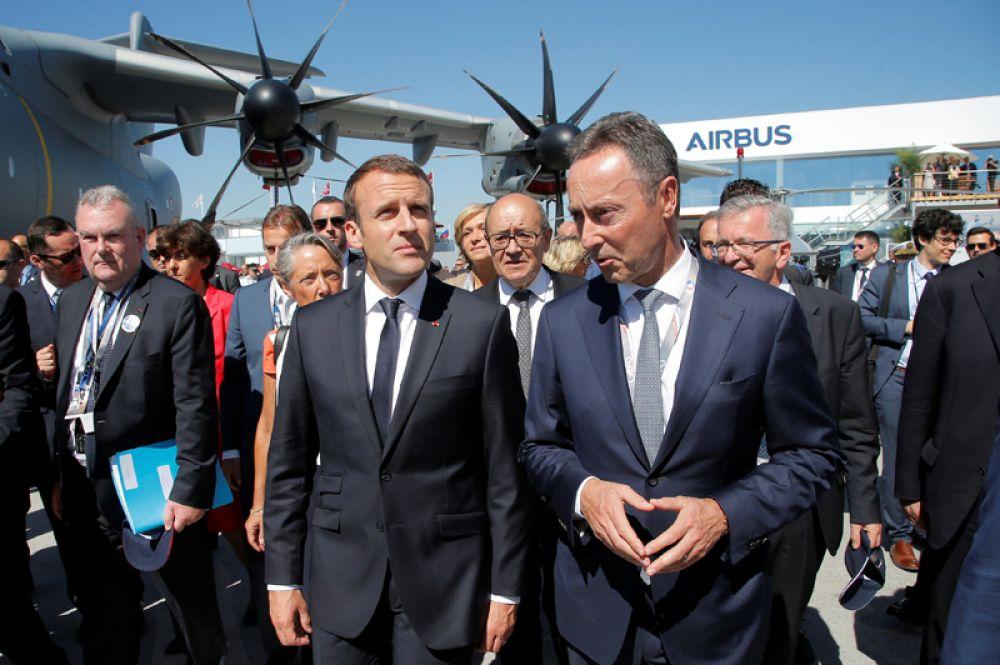Президент Франции Эммануэль Макрон на «Ле Бурже-2017».