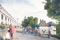 Пешеходная зона от Варварки до Никольской улицы станет частью парка «Зарядье».