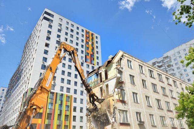 Снос пятиэтажки по программе реконструкции 2000 года в Москве