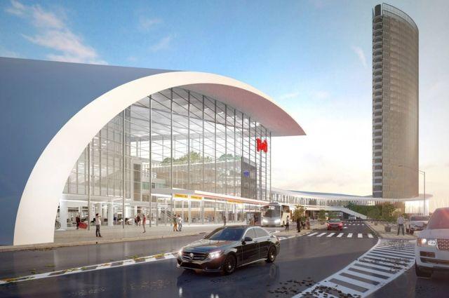 Таким будет вокзал ВСМ в Казани.