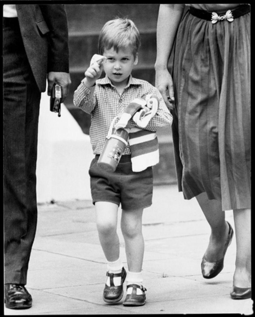 24 сентября 1985 года. Первый день принца Уильяма в детском саду.
