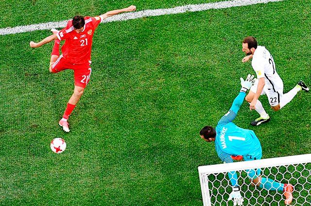 «Мы всех порвём!» - как говорит Мутко... Матч Кубка конфедераций-2017 между сборными России и Новой Зеландии.