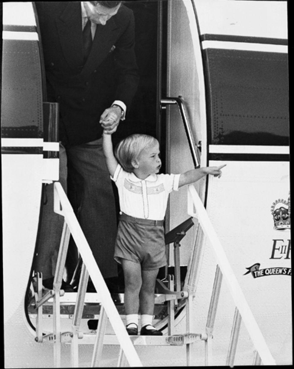 20 августа 1984 года. Принцу Уильяму два года.