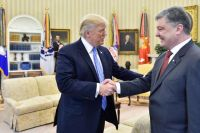 Дональд Трамп и Петр Порошенко