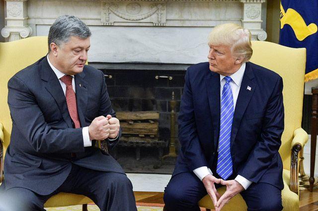 О чем говорили Трамп с Порошенко на встрече в Белом доме?