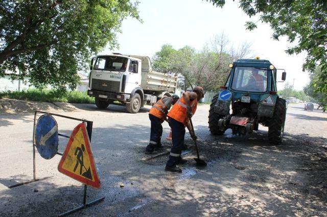 Ремонт улиц в п. Новосиликатный