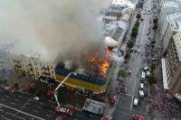 Во время пожара в Центральном гастрономе столицы