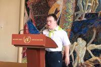 Антон рассказал участникам о том, почему ему нравится быть добровольцем