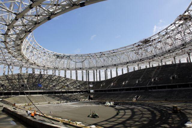Два табло установили настроящемся стадионе вНижнем Новгороде