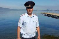Полицейский, участвовший в спасательной операции.