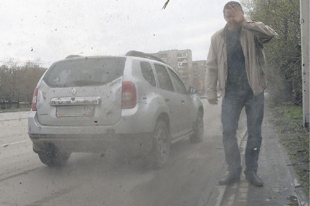 ВПетербурге возбудили административное дело из-за пыльных улиц