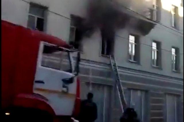 Пожар произошел на втором этаже дома.