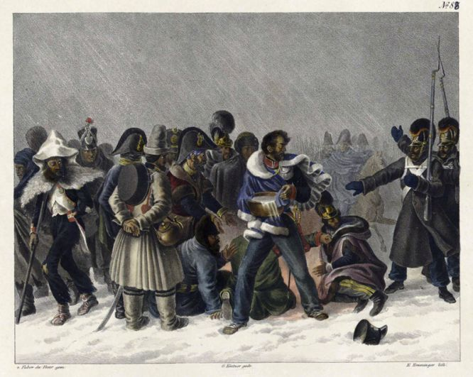На правом берегу реки Березины, 27 ноября 1812 года.