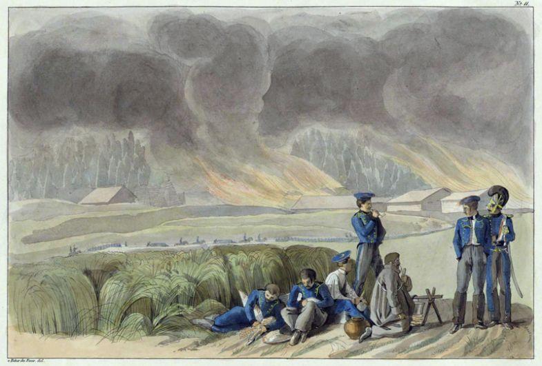 На пути из Браслава в Дисну, 21 июля 1812 года.