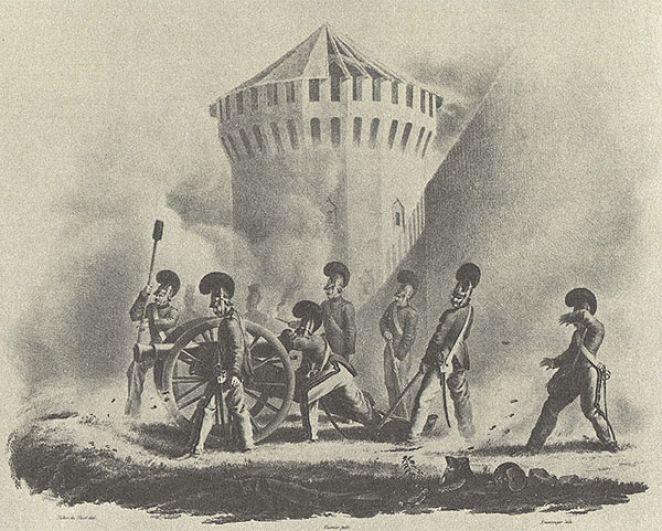 У стен Смоленска, 18 августа 1812 года.