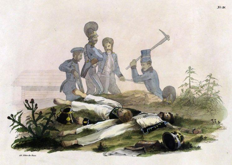 На дороге между Бешенковичами и Островно, 31 июля 1812 года.