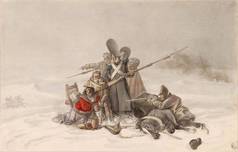 У местечка Бобер, 23 ноября 1812 года.