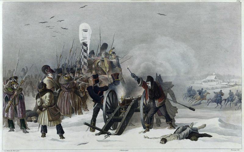 В окрестностях Ошмян, 4 декабря 1812 года.