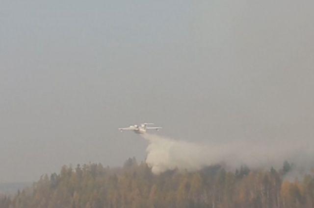 В мониторинге и тушении лесных пожаров участвуют сотрудники на самолётах и вертолётах.