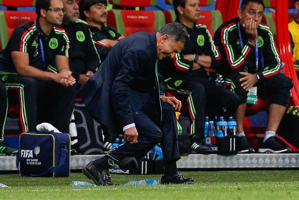 Тренер сборной Мексики Хуан Карлос Осорио не скрывал эмоций.