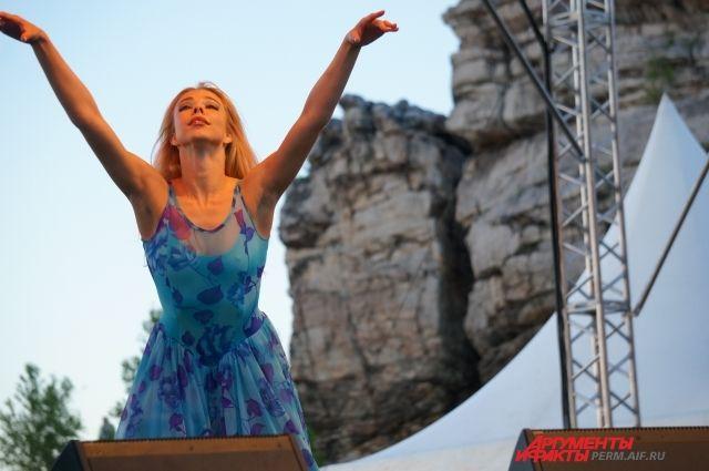 Балет Евгения Панфилоа впервые выступил на ландшафтном фестивале.