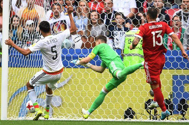 Матч Кубка конфедераций-2017 по футболу между сборными Мексики и России.