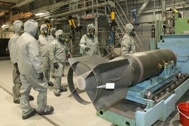 Минпромторг: Россия уничтожила 99% своих запасов химоружия