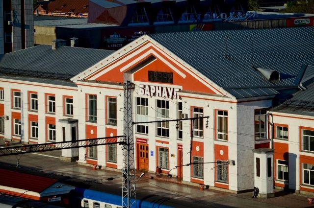 Здание железнодорожного вокзала в Барнауле