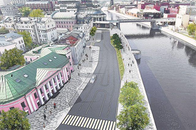 До 2035 г. в Москве обустроят 64 км новых набережных, таких же современных, как недавно благоустроенная Якиманская.