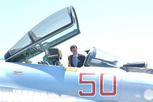 Визит Башара Асада на российскую авиабазу в Сирии