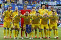 Игроки сборной Украины по футболу.