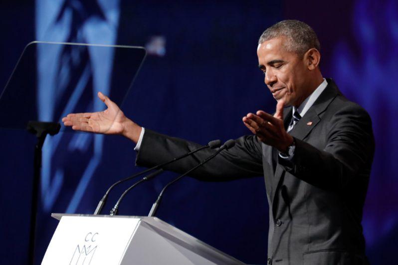 6 июня 2017 года. Бывший президент США Барак Обама выступил с докладом в Монреальской торговой палате.