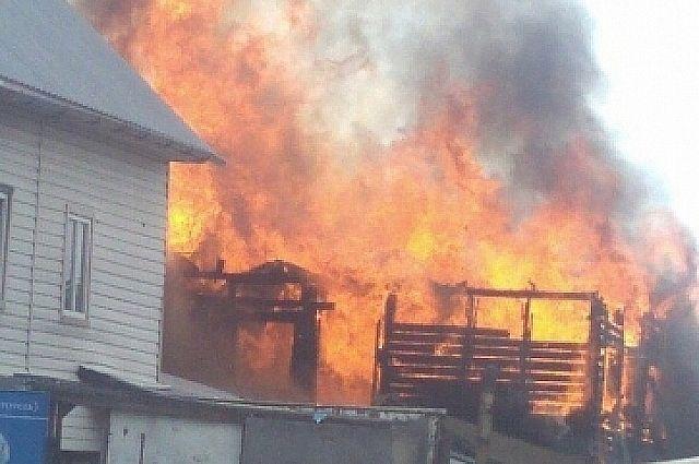 Потушить сильный пожар удалось только через час, в 20:50. Площадь возгорания – 160 кв. метров.