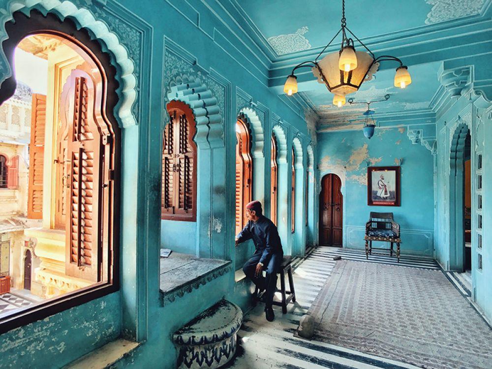 3 место — В городском дворце Удайпура, Индия.