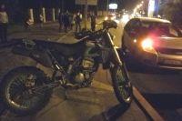 Байк погибшего мотоциклиста.