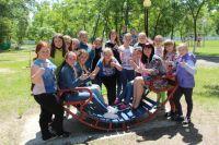 Учащиеся Большелогской школы на слёте отличников.