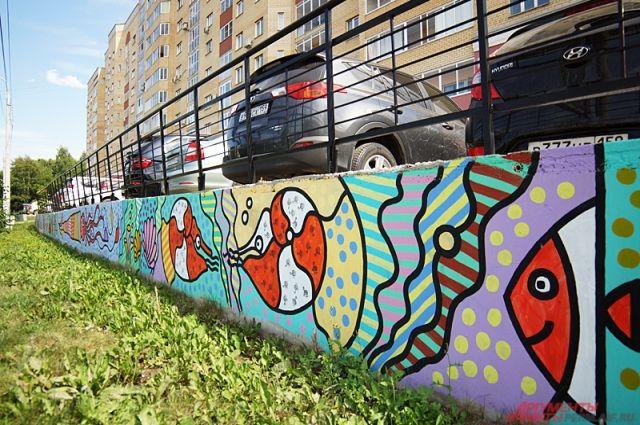 Во время фестиваля уличные художники Перми оставят рисунки на заборах.