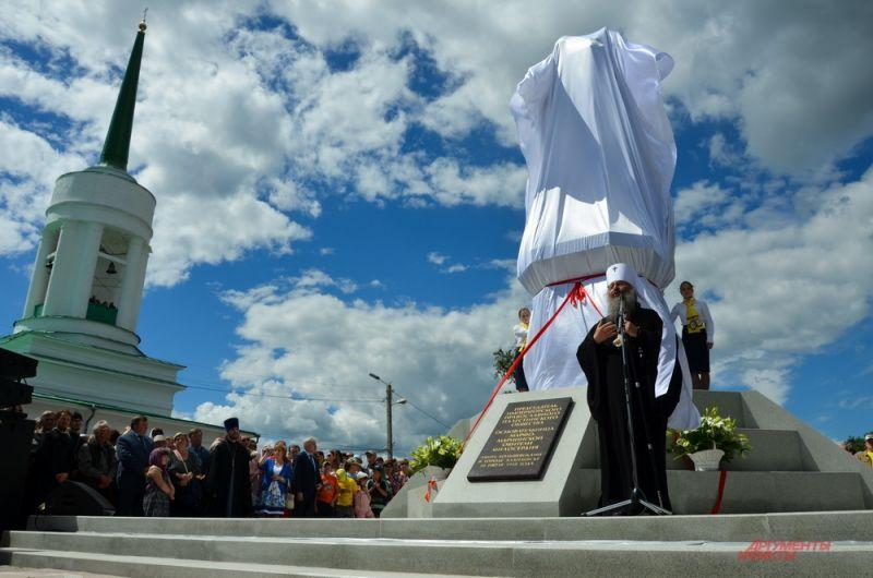 Открытие памятника Елизавете Романовой в Алапаевске.