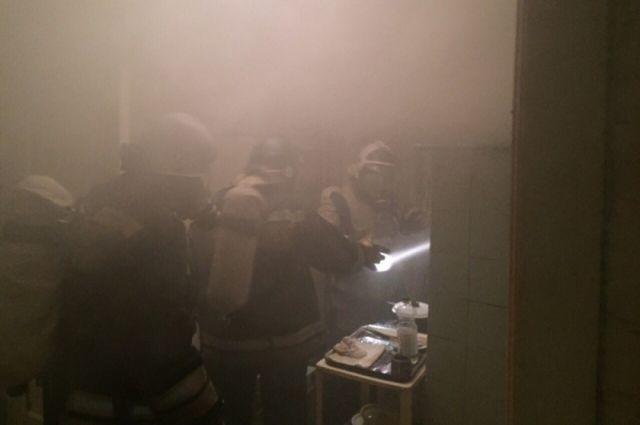 ВНовомосковске пожарные спасли изгорящего дома 14 человек