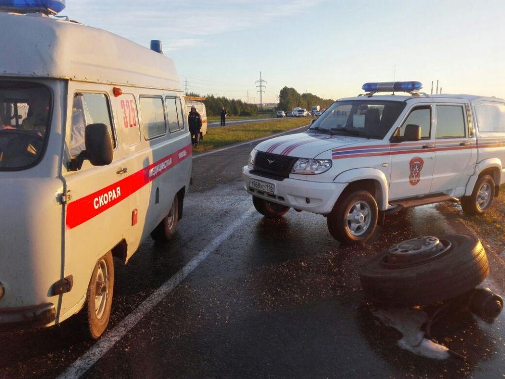 Авария произошла в ночь на 2 июля в 9 км от Заинска