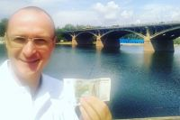 В Красноярск он прибыл на 120 день своего марафона.