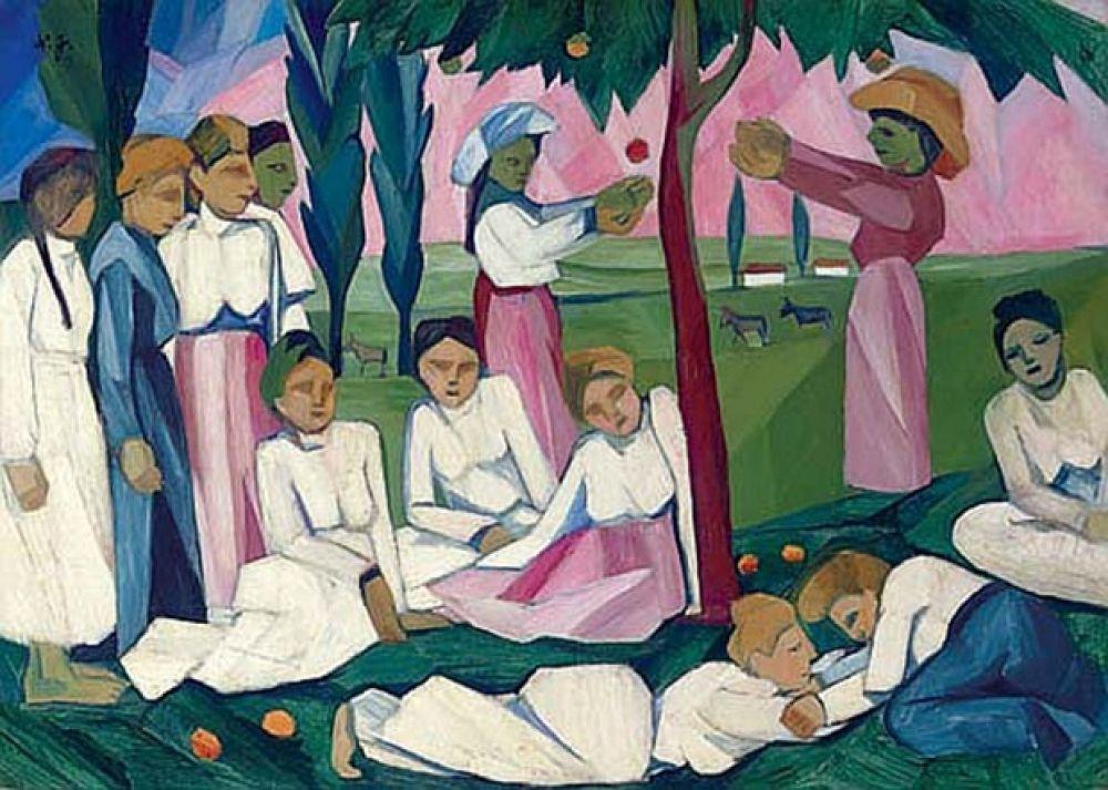 «Сбор яблок», 1909 год.