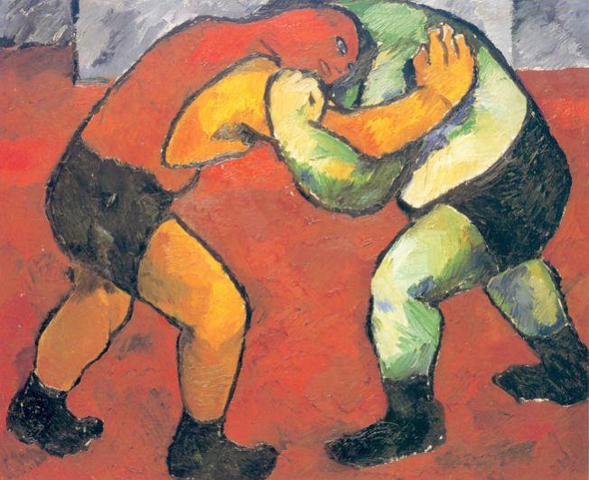 «Борцы», 1908-1909 годы.