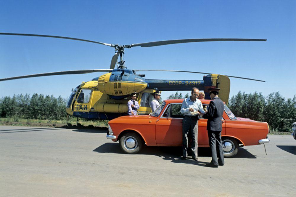 1981 год. Вертолет «Ка-26», используемый в работе ГАИ.